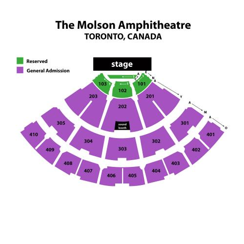 how to get to molson amphitheatre by subway